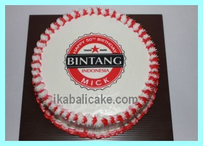 Too funny a Bali Bintang birthday cake That beer brand label is
