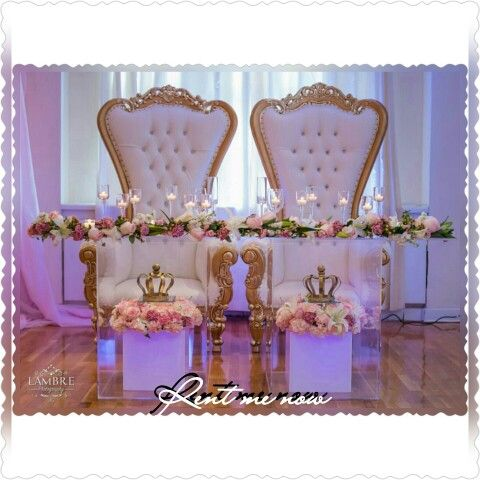Look At This Set Up Just Beautiful Rent My Chairs For Your Next Event You Will Not Be Sorry Sweetheart Table Wedding Royal Wedding Themes Diy Wedding Table