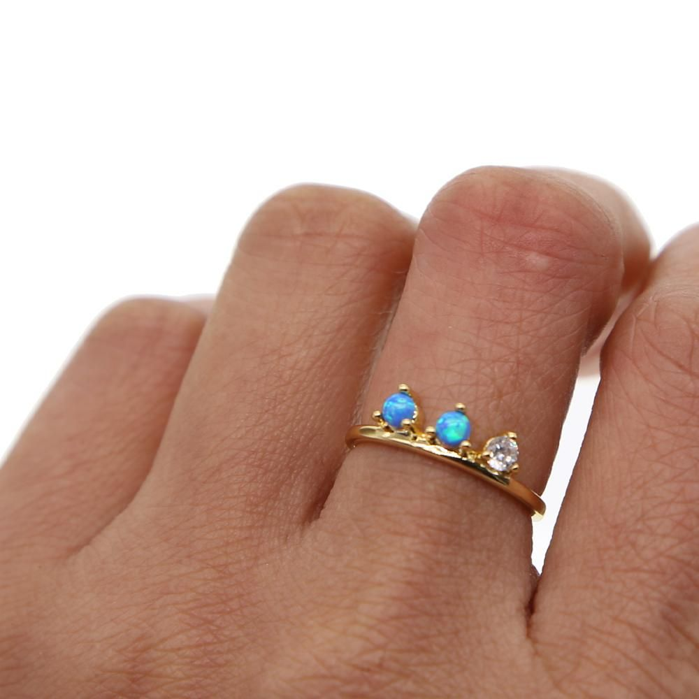 Glitz Glam Blue Diamontrigue Jewelry: Gabriella Ring – Bohèmee