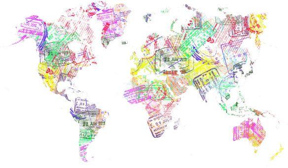 Passport stamps worldmap artsy worldmap gumiabroncs Images