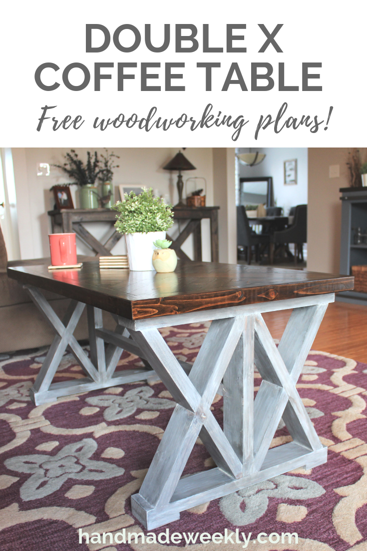 double x coffee table fun with diy pinterest diy home decor rh pinterest com