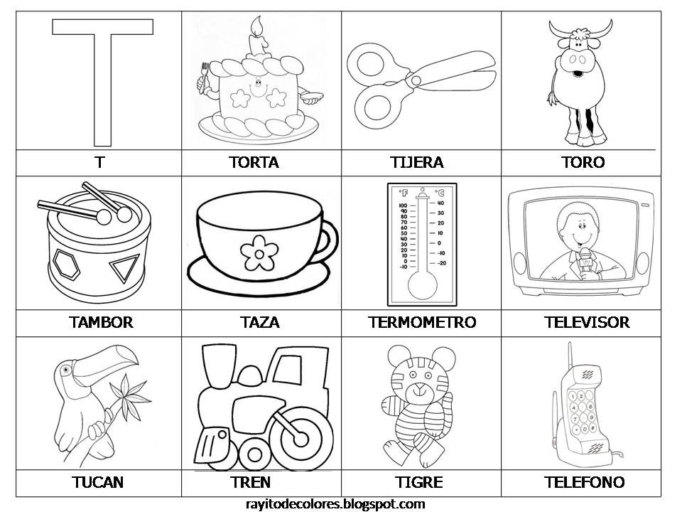 Palabras Con T Español Actividades Con La Letra T