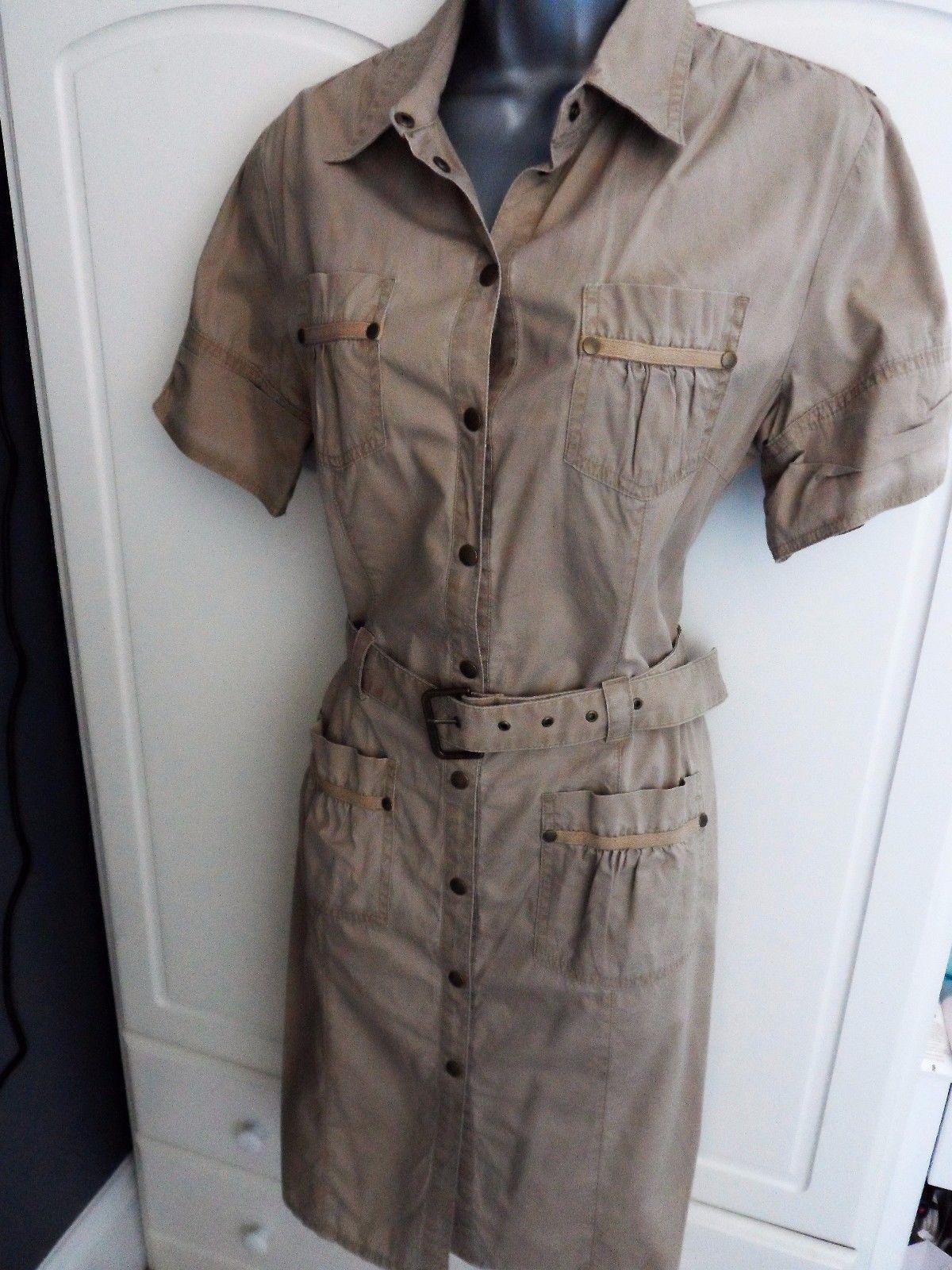 Next fab safari.military style shirt dress size 14 Petite ...