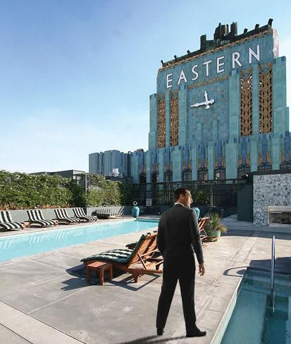Rooftop Eastern Columbia Building Los Angeles California Apartment Building Luxury Loft Cool Apartments