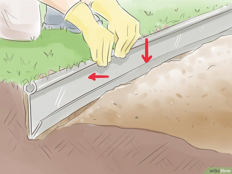 How To Install Plastic Lawn Edging 12 Steps With Pictures Plastic Lawn Edging Plastic Landscape Edging Landscape Edging Diy