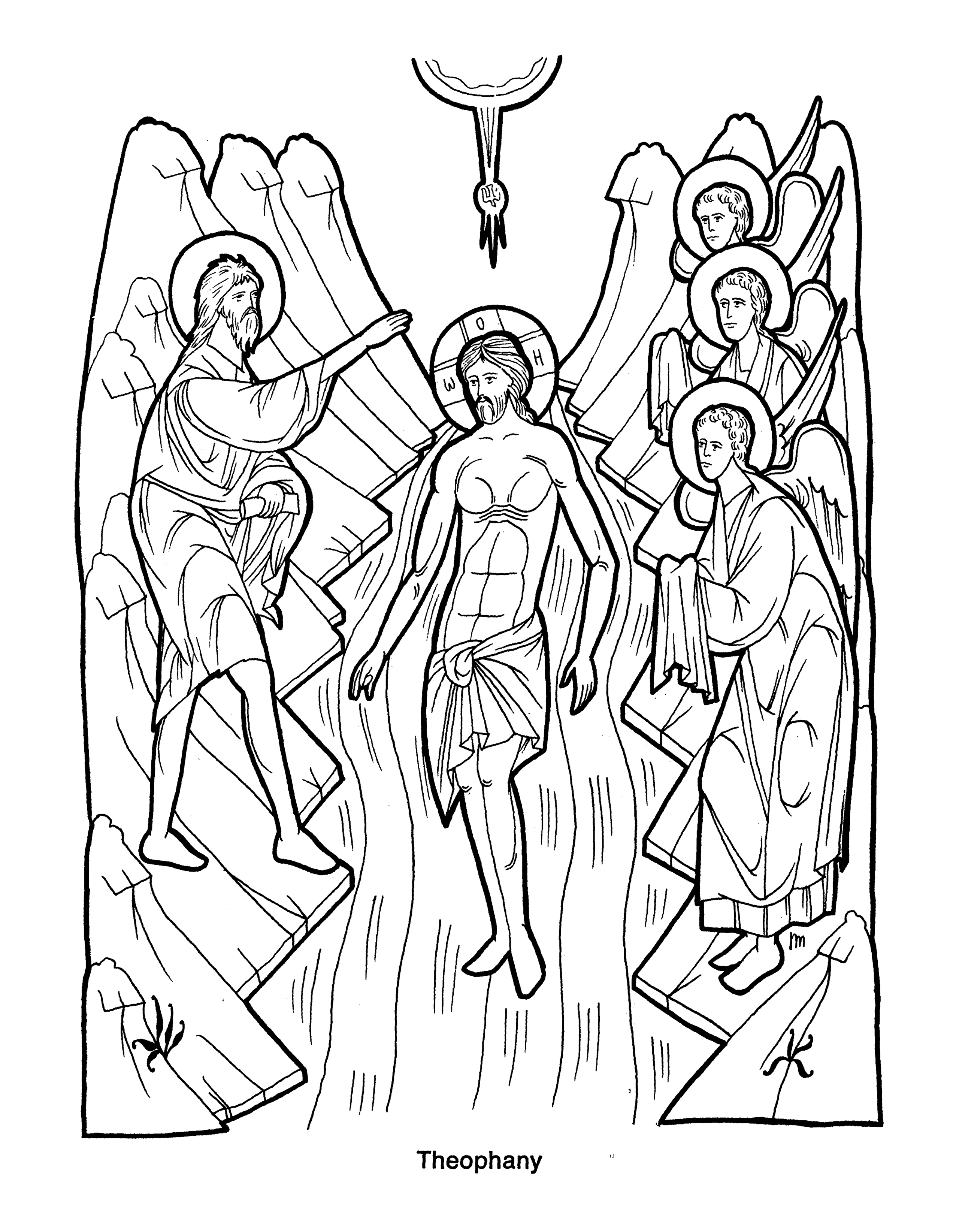 Free Coloring Pages Of Orthodox Icon Orthodox Christian Icons Eastern Orthodox Christian Christian Coloring