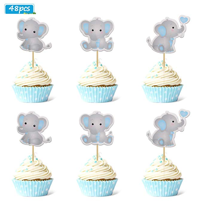 Amazon Com Faisichocalato Blue Elephant Centerpiece Sticks Diy Baby Boy It S A Boy Table Elephant Baby Shower Theme Elephant Birthday Party Peanut Baby Shower