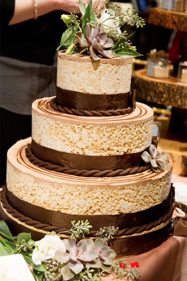 Rice Krispie Wedding Cake Done Right