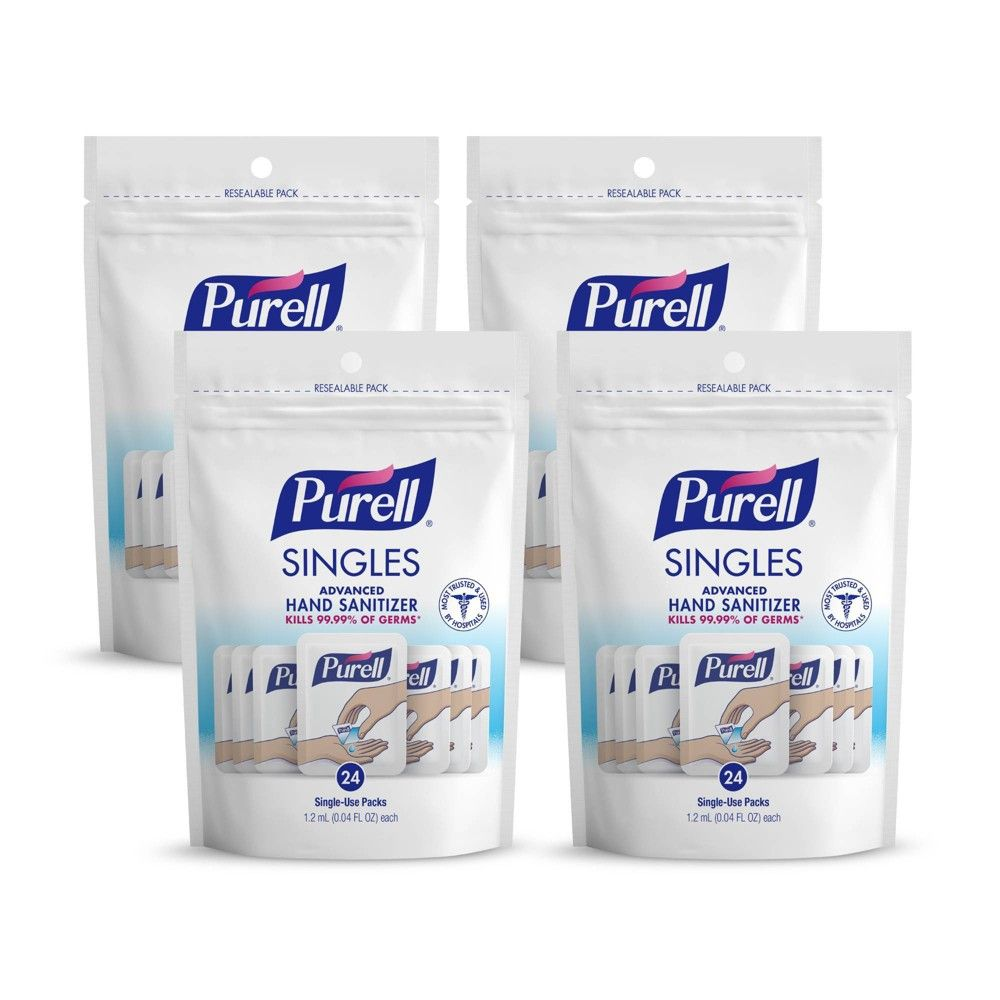 Purell Singles Advanced Hand Sanitizer Gel With Carry Pouch In