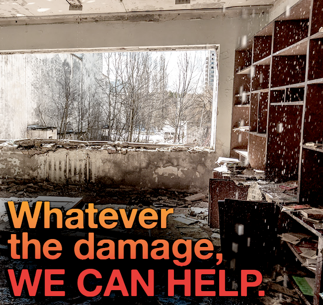 Whether you're dealing with damage from water & mold or