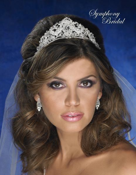 Symphony Bridal Regal 4831CR Wedding Tiara - Affordable Elegance Bridal -