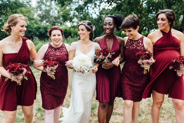 7c99e946075a 20 Burgundy Bridesmaid Dresses Ideas for Wedding 2017 | Bridesmaid ...