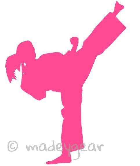 Car Window Vinyl Decal Sticker Sports Martial Arts Female Kick Martial Arts Karate Martial Arts Karate Images