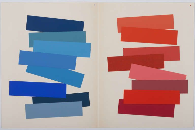 Hand Signed Josef Albers Portfolio Interaction Of Color 1963 Josef Albers Abstract Abstract Artists