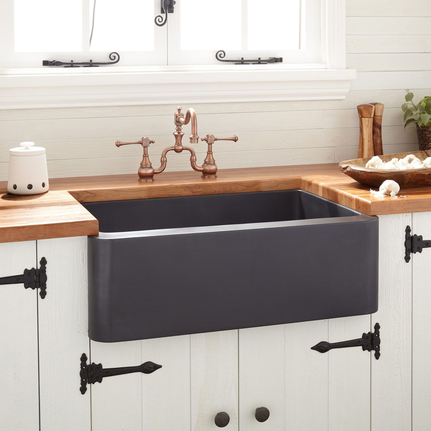 30 Kembla Copper Farmhouse Sink Black Farmhouse Sinks