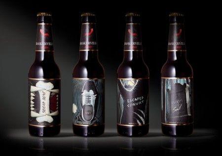 brand design concept for Baskerville Ale, Russia