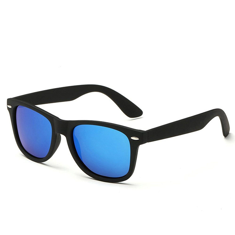 5aae1013503 Pro Acme Classic Semi Rimless Polarized Clubmaster Sunglasses with Metal  Rivets