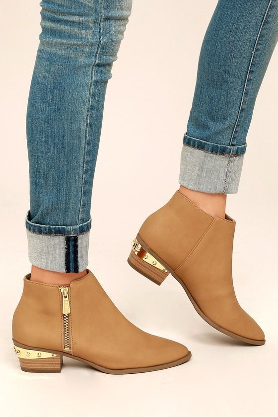 c64e8d6a0c8af CIRCUS BY SAM EDELMAN HOLT GOLDEN CARAMEL LEATHER ANKLE BOOTIES