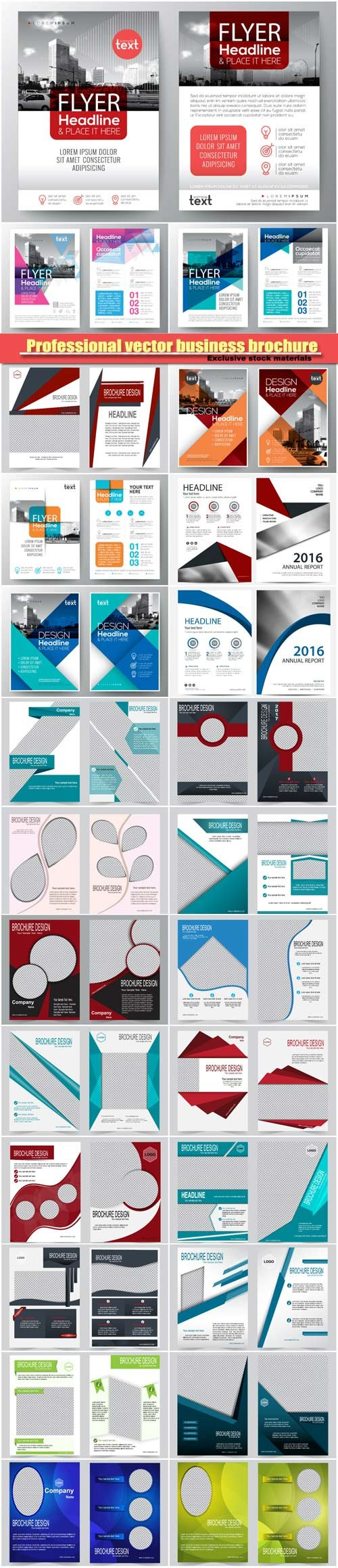 professional vector business brochure annual report cover flyer
