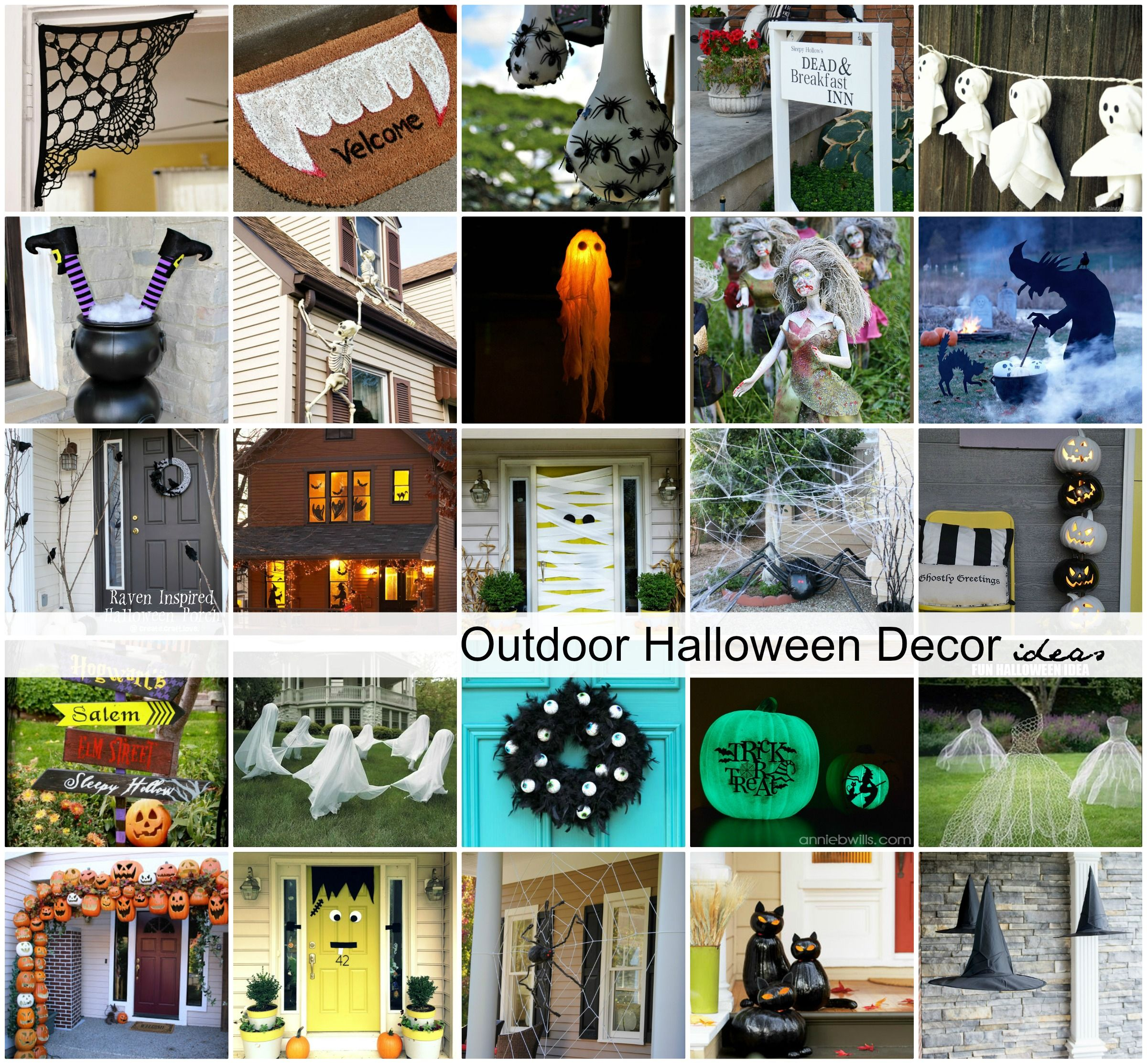 DIY Outdoor Halloween Decorations Diy outdoor halloween - halloween decorations diy