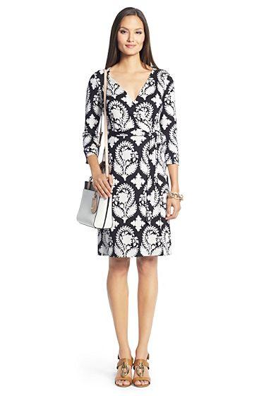 Dvf amelia maggi denim and lace flared wrap dress