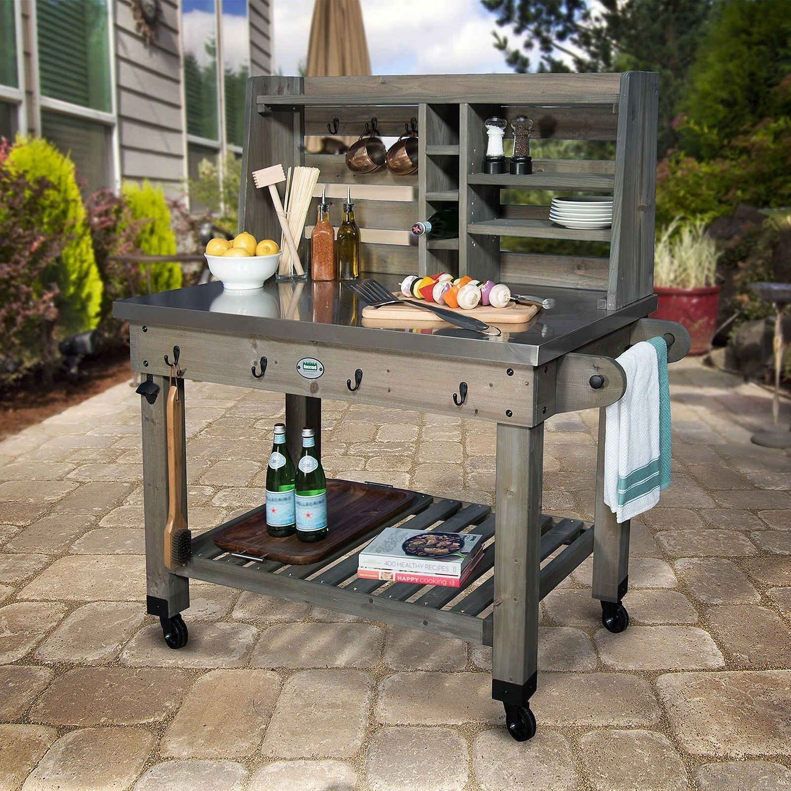 Barbecue Prep Station | Best Home Decorating Ideas on Patio Grill Station id=94969