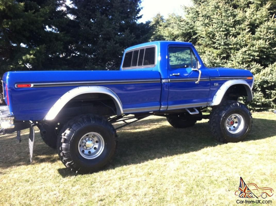 1976 ford long bed monster truck lifted 1977 1978 would love this truck too d