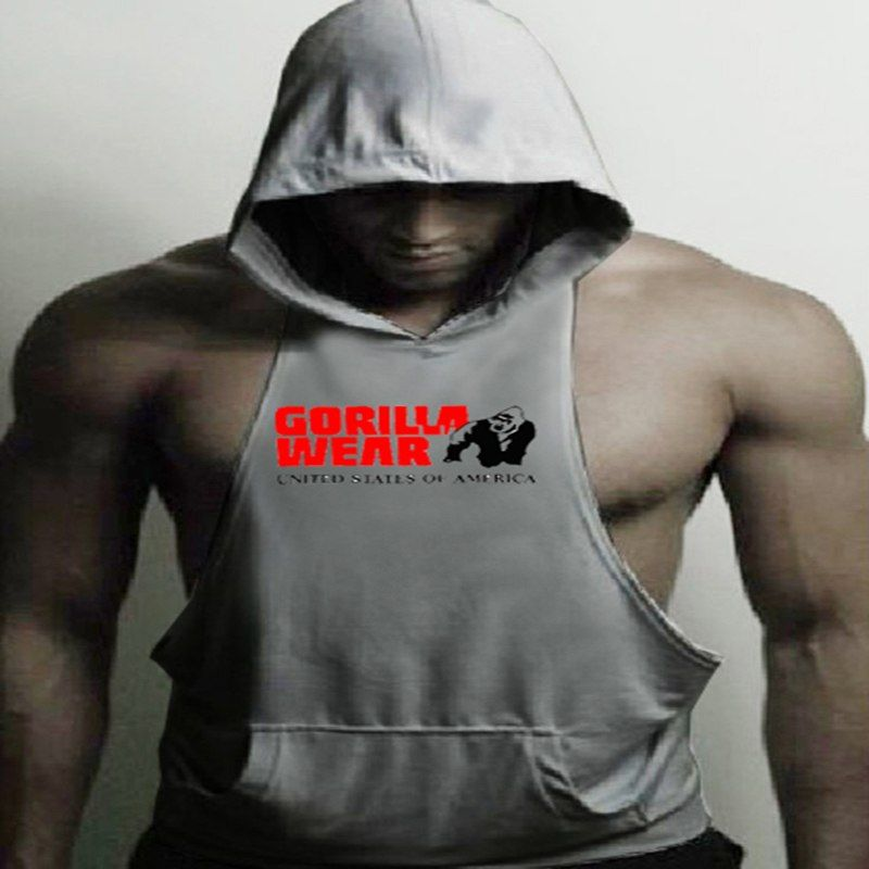 8a3f88bf759fb Animal Brand Clothing Bodybuilding Fitness Men Tank Top Workout The Gorilla Wear  Print Vest Stringer Sportswear Undershirt