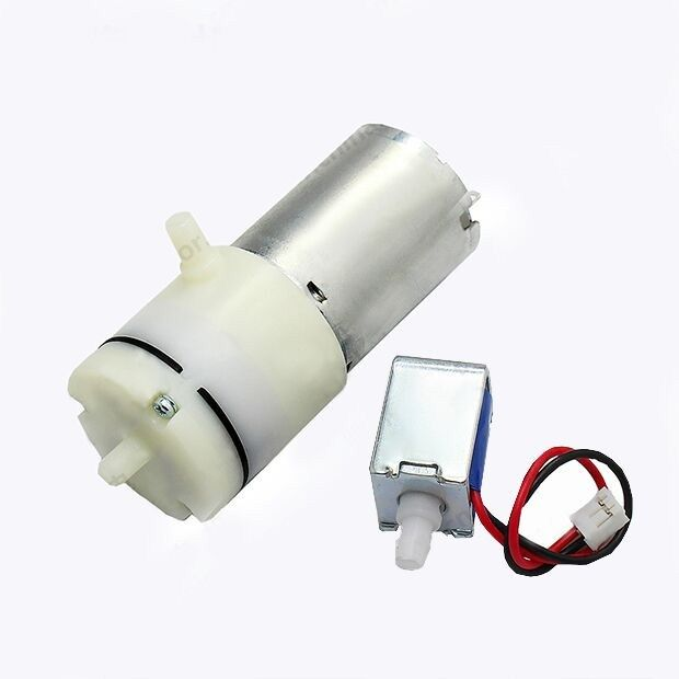 Two uses water air 3 7V Air Pump and DC5V solenoid valve use for
