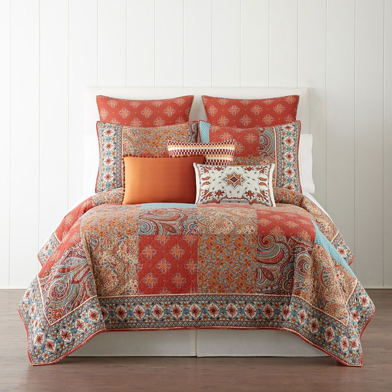 Jcpenney Home Morocco Quilt Paisley Bedding Matching