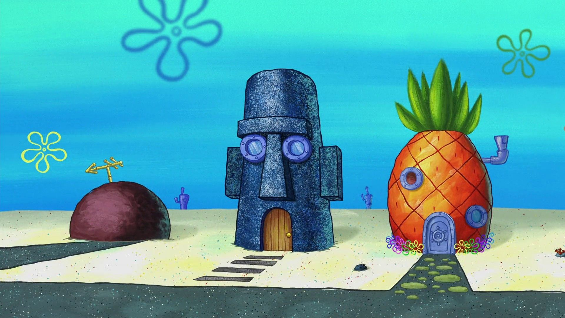 Spongebob House Spongebob Drawings Spongebob Background