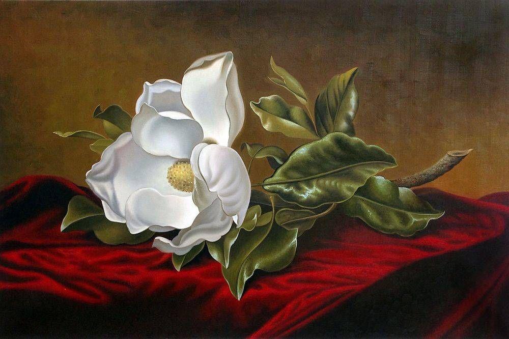 Magnolia Grandiflora Martin Johnson Heade At Overstockart Com Martin Johnson Heade Famous Flower Paintings Martin Johnson