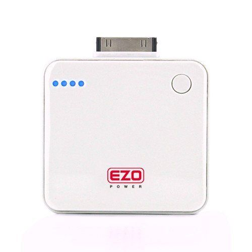 """EZOPower """"Apple Certified"""" Rapid Portable Rechargeable External Battery Pack Charger - 1600mAh / White for Apple iPhone 4S, 4, 3GS, 3G, iPod Touch Nano by EZOPower. $14.99. You can't always recharge your phone when you'd like to. EZOPower Backup Battery is the perfect solution for emergency power and power on the go, double your talk and standby times. so you can always talk, type and work as long as you need to. Keep it in your bag or briefcase and you'll stay connected..."""