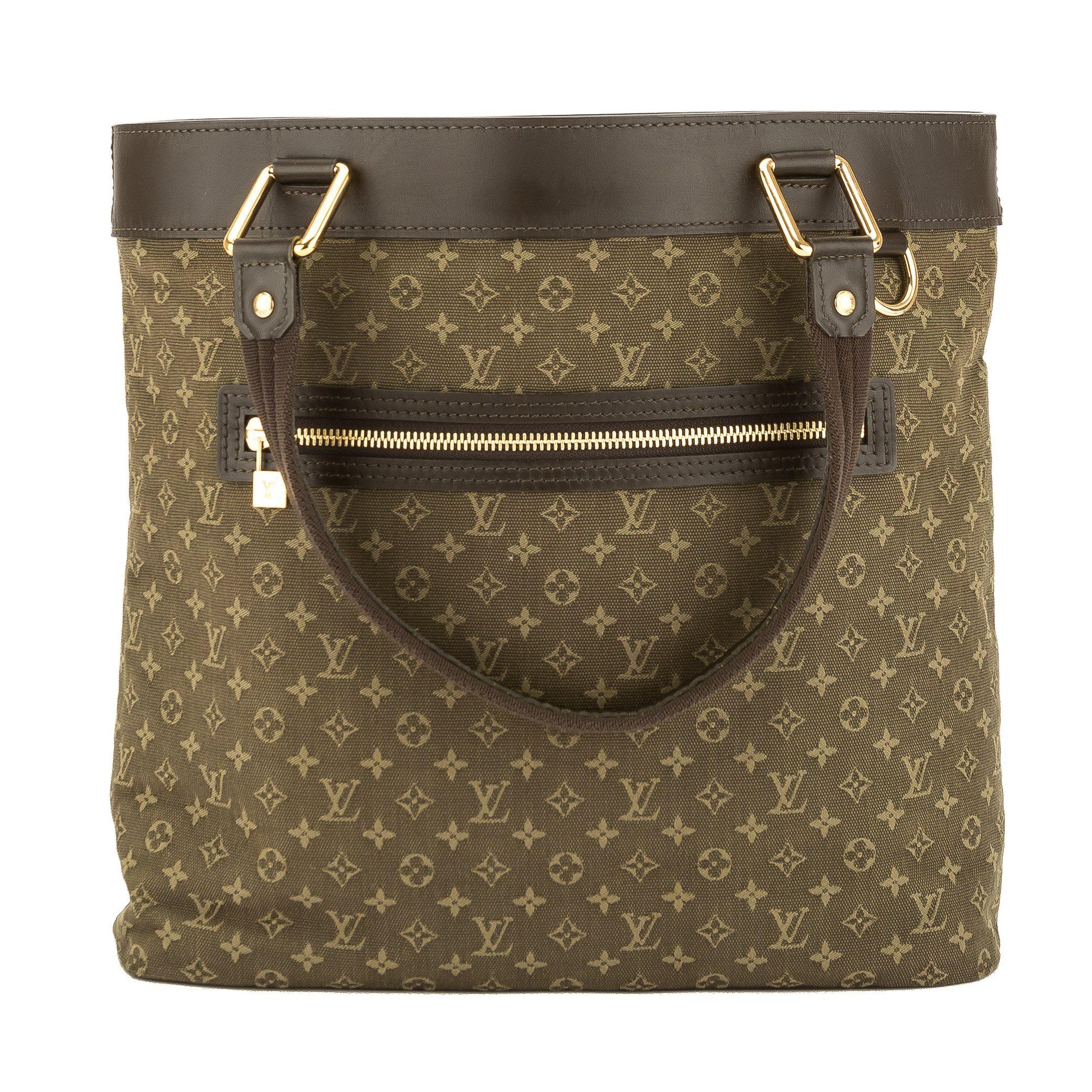 4c6140b0a746 Louis Vuitton Khaki Monogram Mini Lin Canvas Lucille GM Bag (Pre Owned)