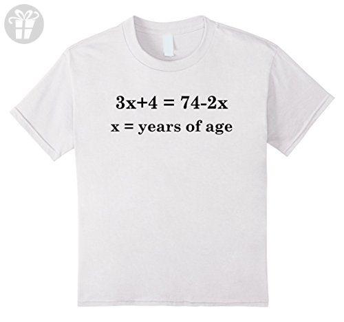 Kids 14 Years Old Algebra Equation Funny 14th Birthday T Shirt 12 White