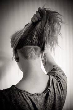 Undercut Girl Ponytail Google Search Undercut Shaved Hair