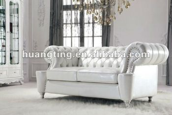 Genuine Leather Sofa Set,neoclassic Crystal Studded Chesterfield Living  Room Sofa