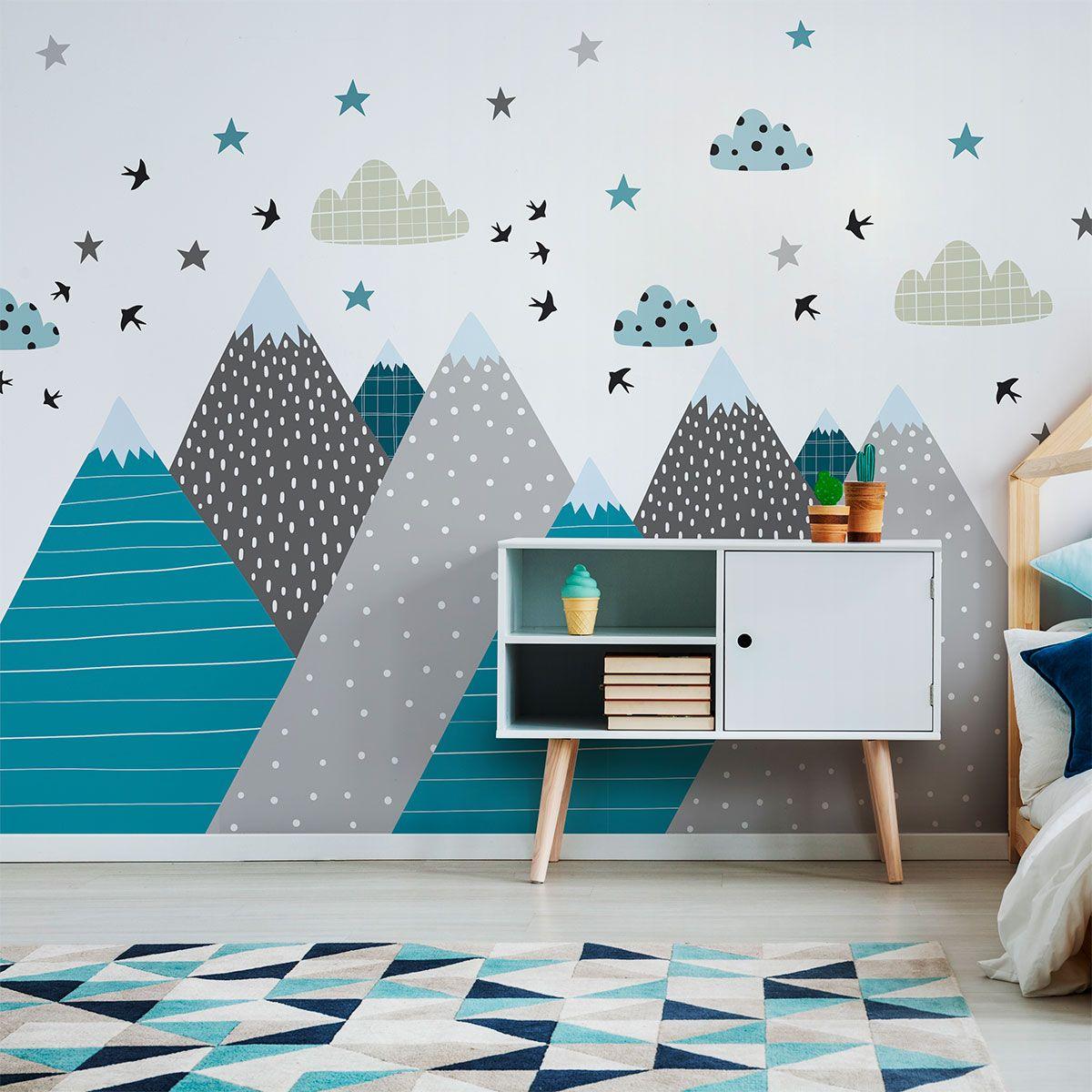 Déco scandinave chambre enfant janeka  Stickers chambre enfant
