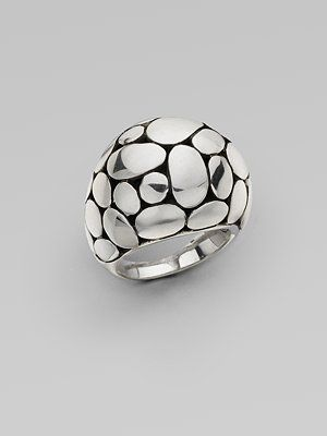 sterling silver ring w/ clusters of ovals