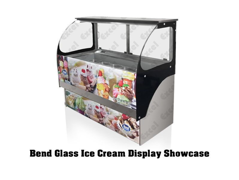 Bend Glass Ice Cream Display Showcase Excel Refrigeration Bakery Equipment Manufacturers Of Bake Showcase Display Commercial Refrigerators Bakery Display