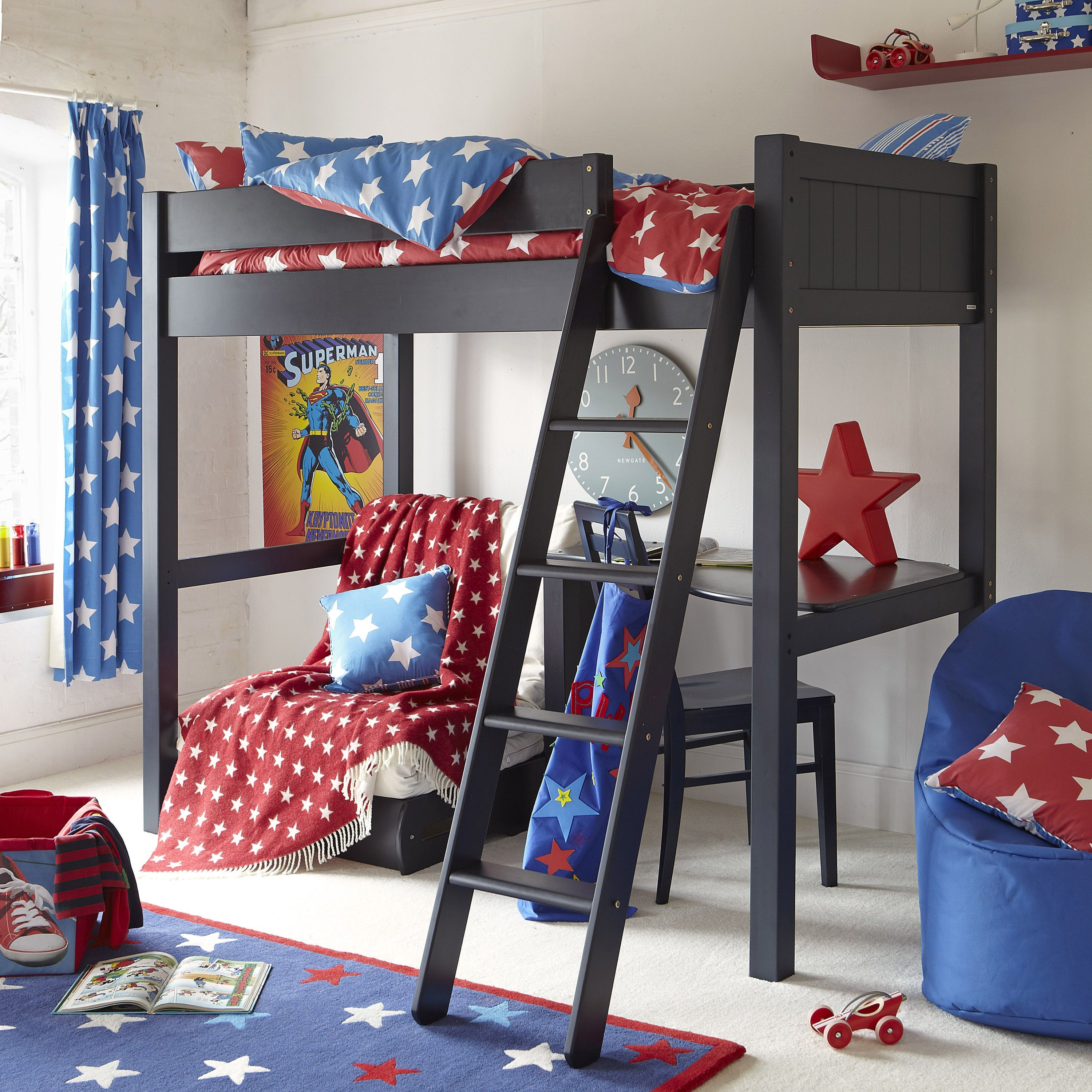 High sleeper loft style cabin bed with hideaway futon bed rutland - This High Sleeper Bed Full Adult Size Includes A Flip Out Sleepover Futon