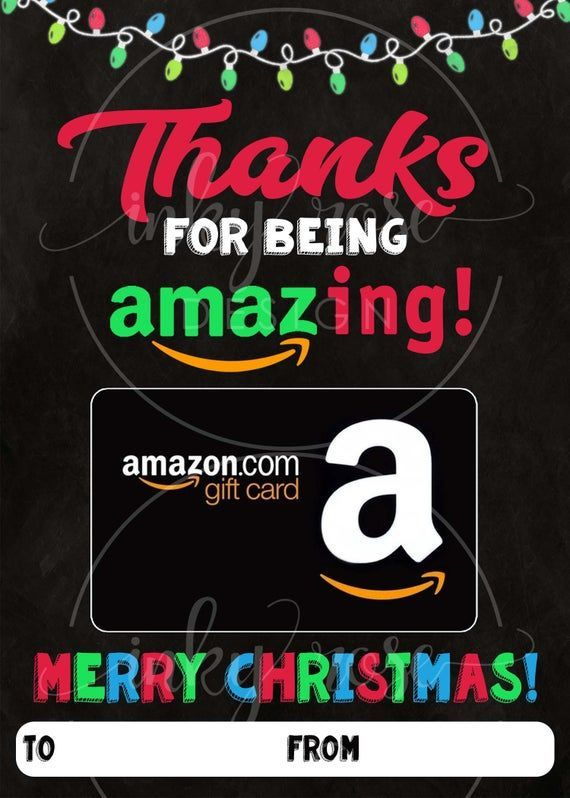 Photo of Amazon Gift Card Holder Christmas PRINTABLE for Teacher Appreciation Holiday Gift, Thanks for Being Amazing, School Daycare Coach Merry Shop