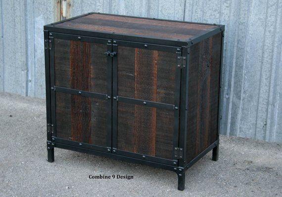 Best Modern Industrial Nightstand Vintage Industrial End Table 400 x 300