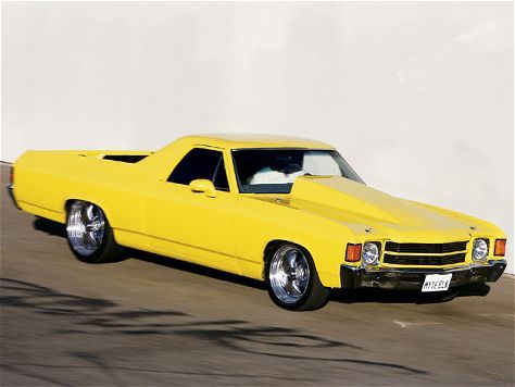 Supercharged Big Block 1972 Chevy El Camino Yellow Classic Cars Muscle Chevy Chevy Muscle Cars