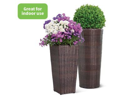 Planters Aldi 15 Each With Images Rattan Planters Tall Planters Aldi