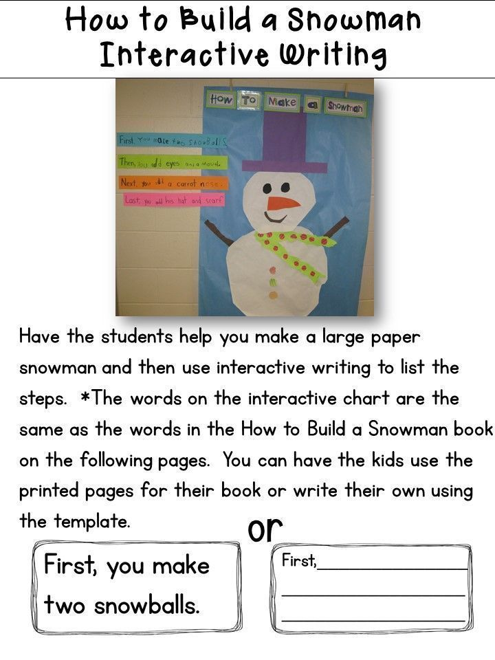 Snowman Math and Literacy Fun Math literacy, Literacy and Snowman - unit lesson plan template