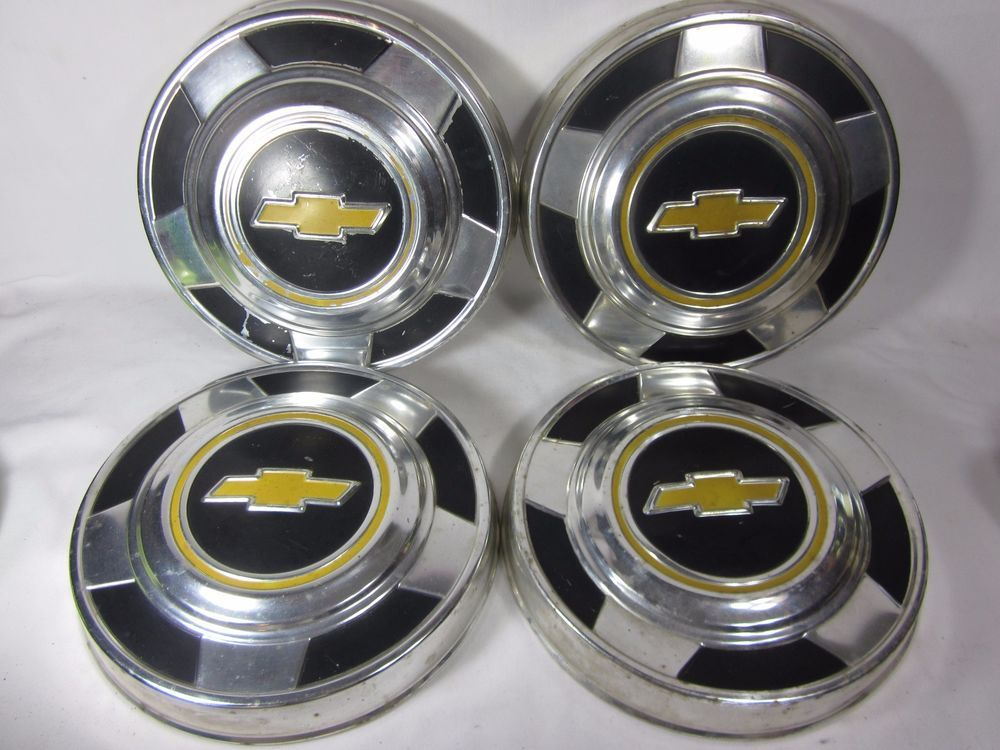 Vintage Chevy Truck 1 2 Ton Dog Dish Hubcaps Set Of 4 C10