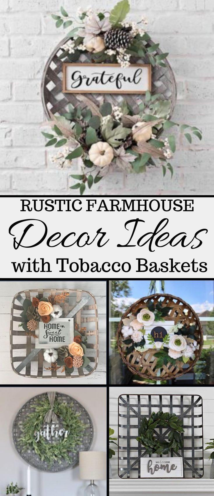 Tobacco Basket Decor Ideas - My Cozy Colorado