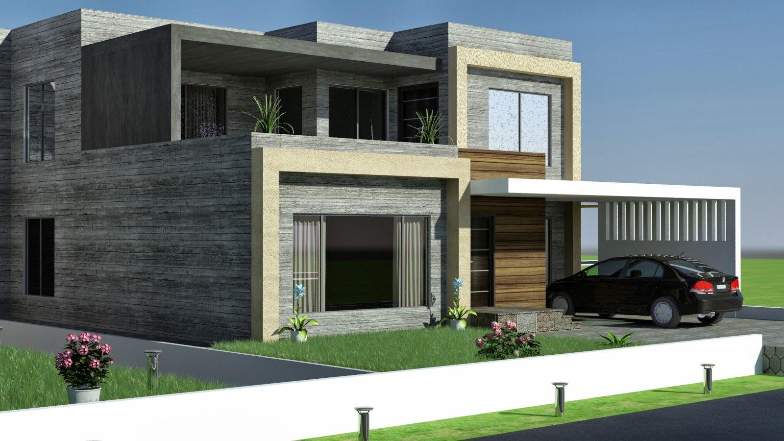 3d front elevation com 1 kkanal old design convert to modern