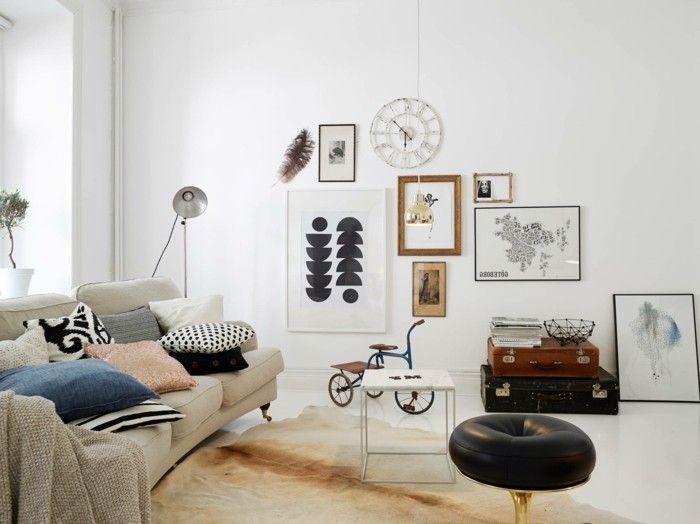 Kleine Wohnung Einrichten Tipps Und Ideen Wohnzimmer - wohnzimmer dekoration grau
